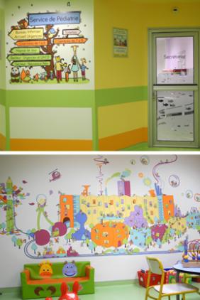 Décoration du service de pédiatrie du CH d'Aubagne